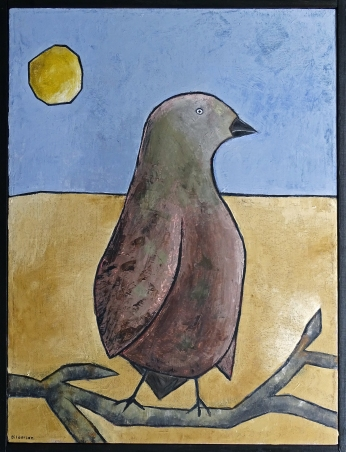 """""""The Bird,"""" 16 x 20."""" SOLD to Missi Pyle with a donation to Red Bucket Rescue."""