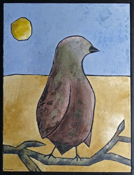 """The Bird, 16 x 20."""" SOLD to Missi Pyle with a donation to Red Bucket Rescue."""