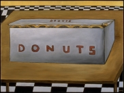 "Box of Donuts, 30 x 40."" SOLD to Jon Soto."