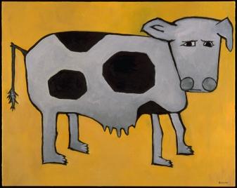 "Yellow Cow, 24 x 30.""SOLD to Stefan Copiz."