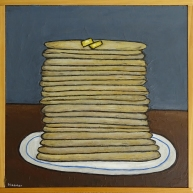 "Pancakes, 16 x 16."" SOLD to Garrett Werner with a donation to Wildlife Care of SoCal."