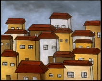 """Rooftops, 18 x 24."""" SOLD at Lounge, SF."""