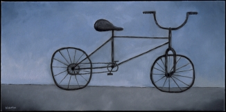 """Bicycle, 10 x 20."""" SOLD to Margaret Johnson."""