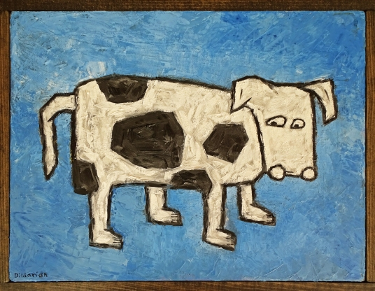 """Cow Who Refuses to Make Eye Contact, 12 x 16."""" SOLD to Emily Friedland with a donation to Farm Sanctuary."""