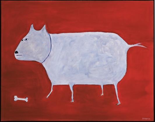 "Dog with Bone, 16 x 20.""SOLD to Ian Kalman."