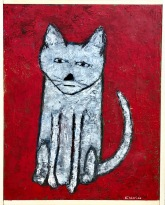 Cat Painting, SOLD to I. Podgurskiy with a donation to WildAid.