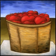 Basket of Apples, SOLD to Maurita Dunphy.