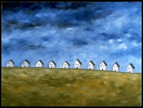"""Row of Houses, 30 x 40."""" SOLD to Sandy Jack."""