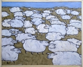 Field of Sheep, SOLD to E. Parker and A. Yurukoglu with a donation made to World Wildlife Fund.