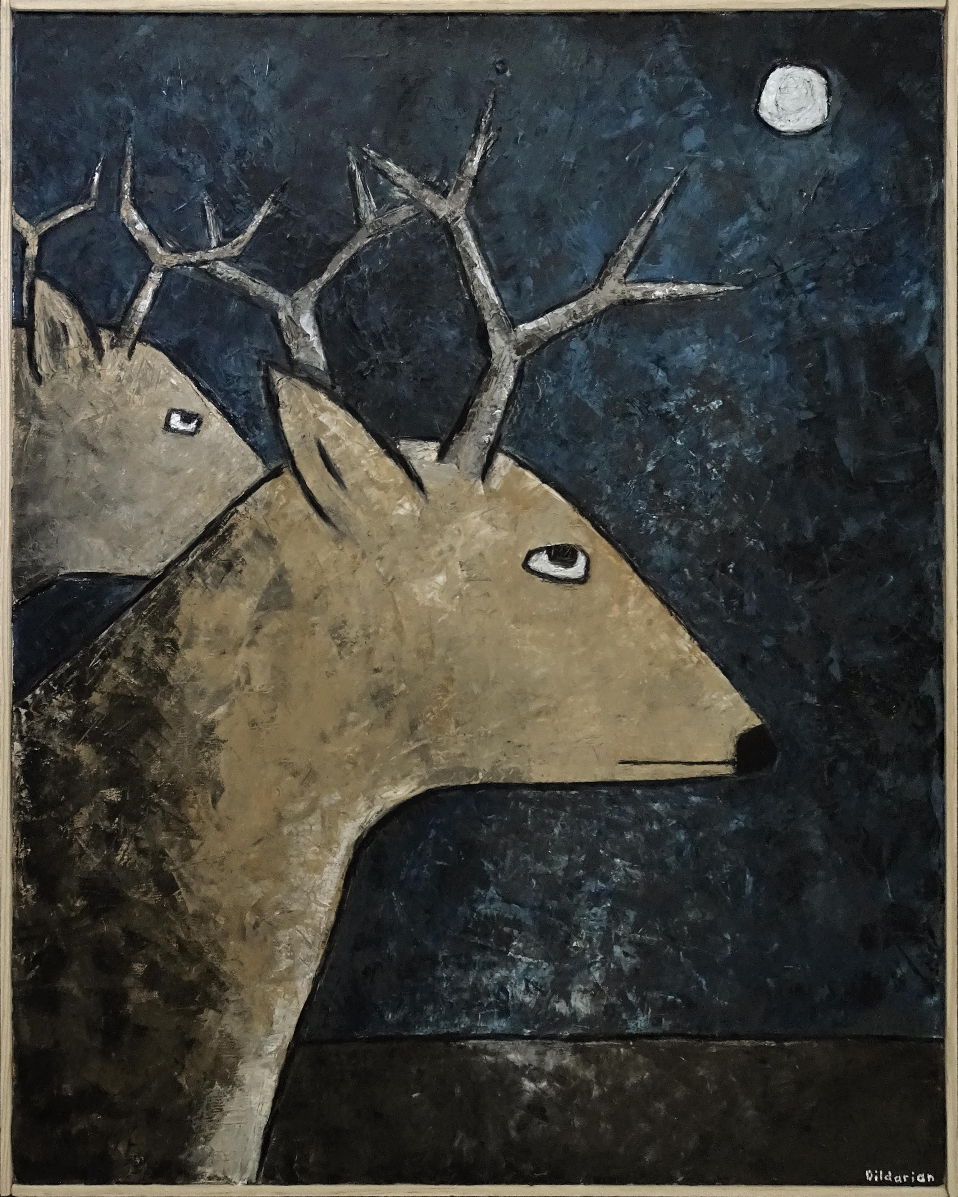 Deer at Night 24x30