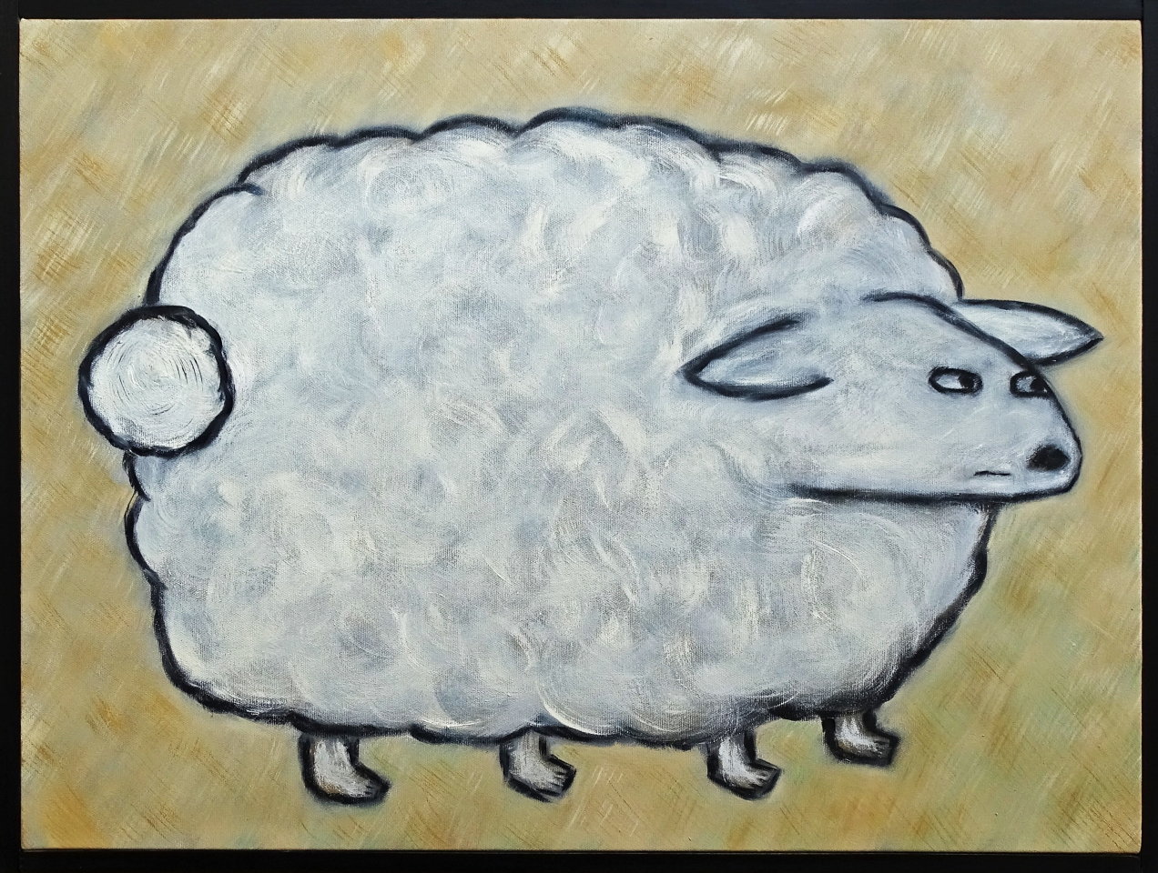 Sheep Just Standing There 18x24